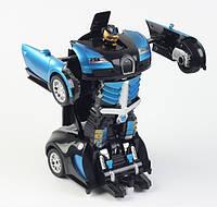 Авто-Трансформер 1:12 Робот Bugatti Veyron  синий