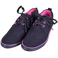 Кеды черные на шнуровке 11011