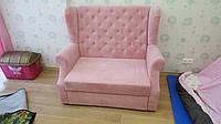 Раскладной диванчик в детскую комнату (Розовый)