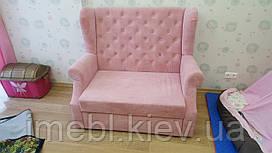 Розкладний диванчик в дитячу кімнату (Рожевий)