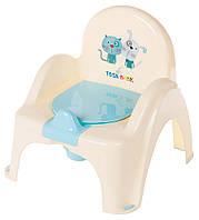 Горшок-кресло Tega Dog & Cat PK-007 желтый