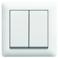 Выключатель 2-клавишный lumina2 Hager белый WL0040