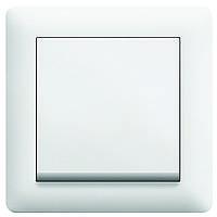 WL0010 Вимикач 1-полюсний білий