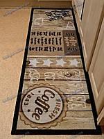 Ковер кухонный Китчен Кофе 50х150см. коричневый