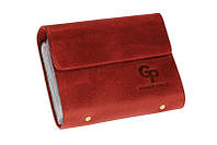 Визитница Grande Pelle, 24 карты, красный, кожа