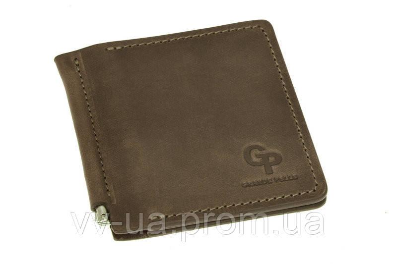 Зажим Grande Pelle Quadro, коричневый, кожа (115120)