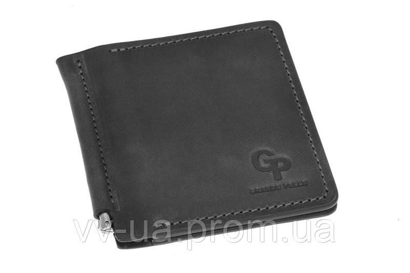 Зажим Grande Pelle Quadro, черный, кожа (115110)