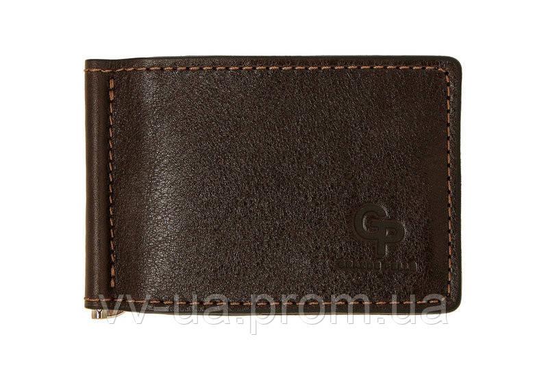 Зажим-портмоне Grande Pelle, шоколад, кожа (109620)
