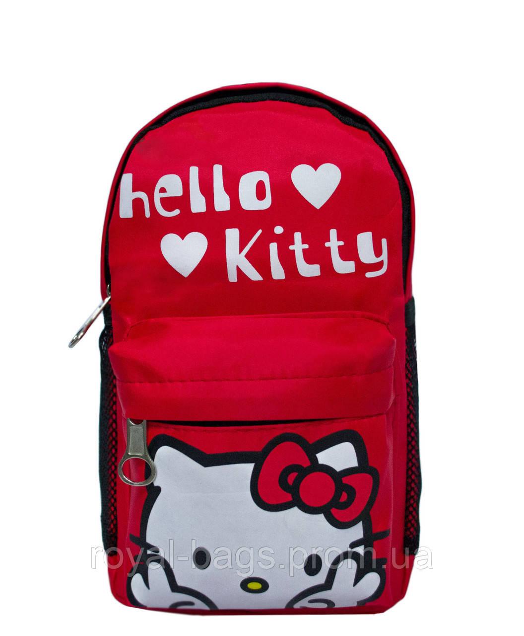 "Рюкзачок ""Мультяшки"" Hello Kitty 2 Цвета Красный."
