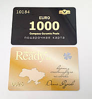 Пластиковые карты с тиснением золотой или серебряной фольгой