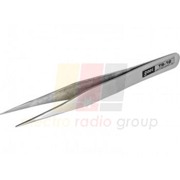 Пинцет радиотехнический GOOI TS-12, метал.