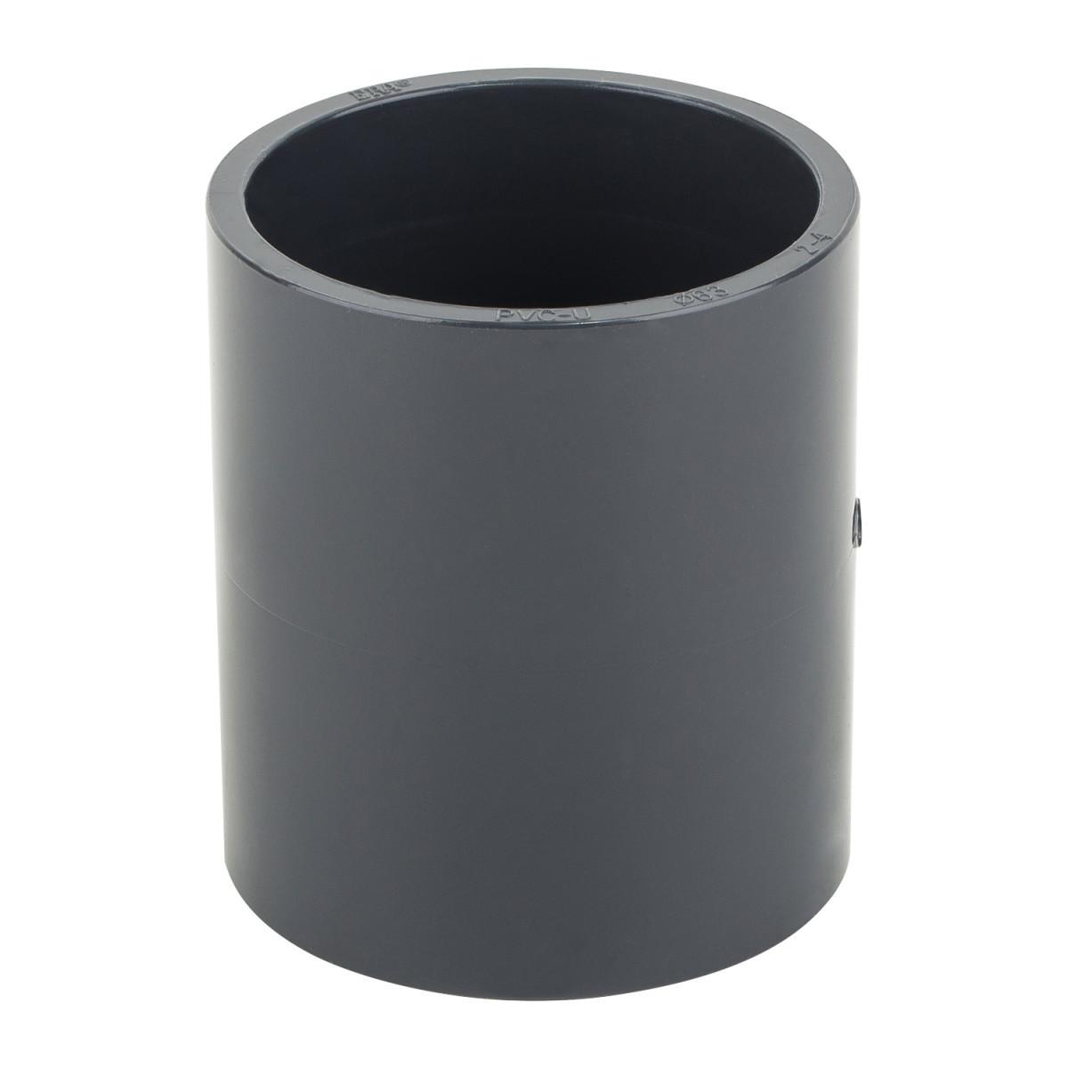 Муфта ПВХ ERA соеденительная диаметр 63 мм