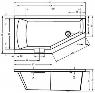 Ванна Riho Geta асиметрична 170*90 см, R (BA88), фото 2