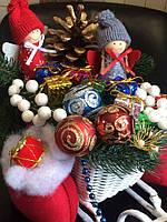 Рождественские сани с оленями