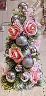 Рождественская елка 30-35см с латексных роз