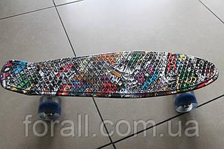Скейт Пенни борд (Penny board) 820-11 с рисунком, свет
