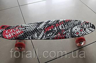 Скейт Пенни борд (Penny board) 820-12 с рисунком, свет