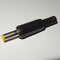 Штекер живлення DC, 5,5\2,1 мм, довжина 14мм (жовтий)