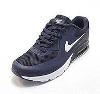 Кроссовки мужские  Nike Air Max 90 текстиль сине-белые (найк аир макс)(р.41,42,43,44,45,46)