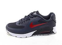 Кроссовки мужские  Nike Air Max 90 текстиль сине-красные (найк аир макс)(р.41,42,43,44,45)