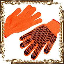 Перчатки рабочие х/б Оранж