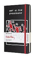 Записная книжка Moleskine Keith Haring L limited edition черный в линии