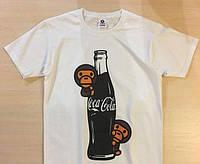 Футболка белая A Bathing Ape топ | Coca-Cola logo