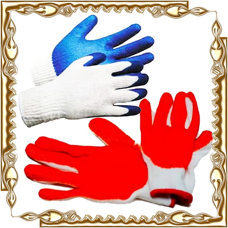 Перчатки стрейч прорезиненные (краска) 12 пар/уп.