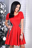 Женское вечернее платье с паетками YANA цвет Красный