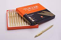 Ручка шариковая поворотная, металлическая, синие чернила