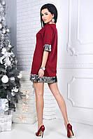 Женское вечернее платье с паетками NINA цвет Бордо