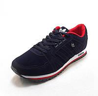 Кроссовки мужские  Adidas  замшевые сине-красные (р.41,42,43,44,45,46)