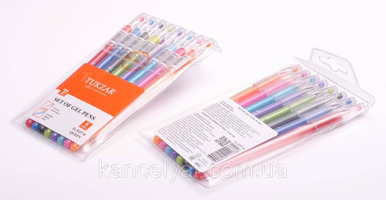 Набір ручок гелевих, 8 кольорів