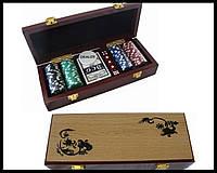 Набір для покеру в коробці дерево. №100м