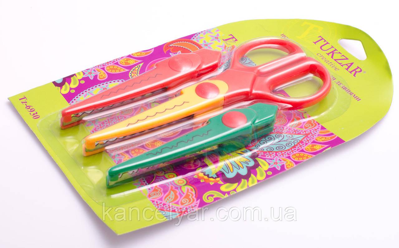 Ножиці з фігурними змінними лезами, 3 в 1