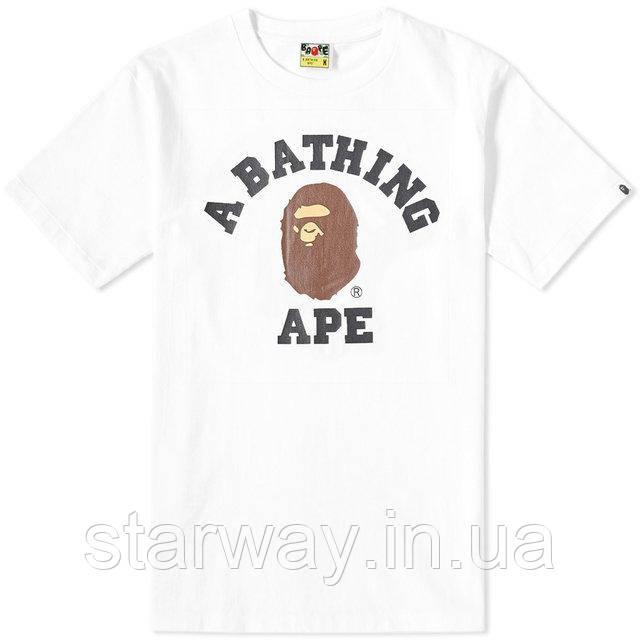 Футболка белая A Bathing Ape |  logo top