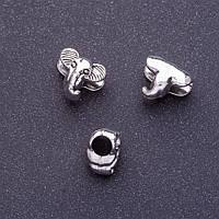 Фурнитура вставка бусина пандора слон L-10мм d1-4,5мм цвет серебро