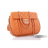 Сумка Chanel Classic Flap Bag Leather orange