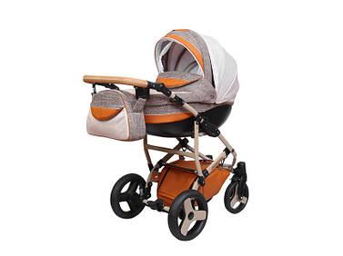 Дитяча універсальна коляска 2 в 1 «SIRIUS ECO» Бежвий з помаранчевим