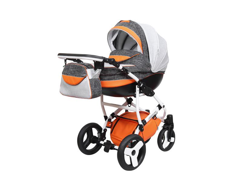 Дитяча універсальна коляска 2 в 1 «Sirius Eco» Світло-сірий з помаранчевим