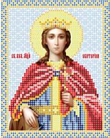 Атлас с нанесенным рисунком «Святая Екатерина»