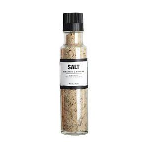 Соль с черными оливками и розмарином с młynkiem Nicolas Vahe