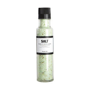 Соль с пармезаном и базиликом с młynkiem Nicolas Vahe