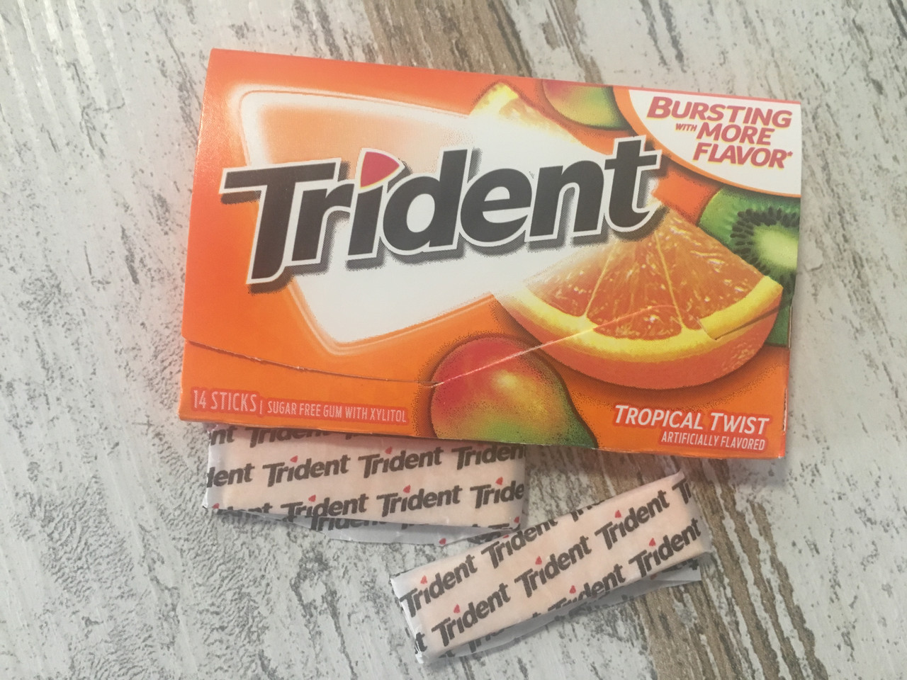 Жвачка Trident Тропические фрукты