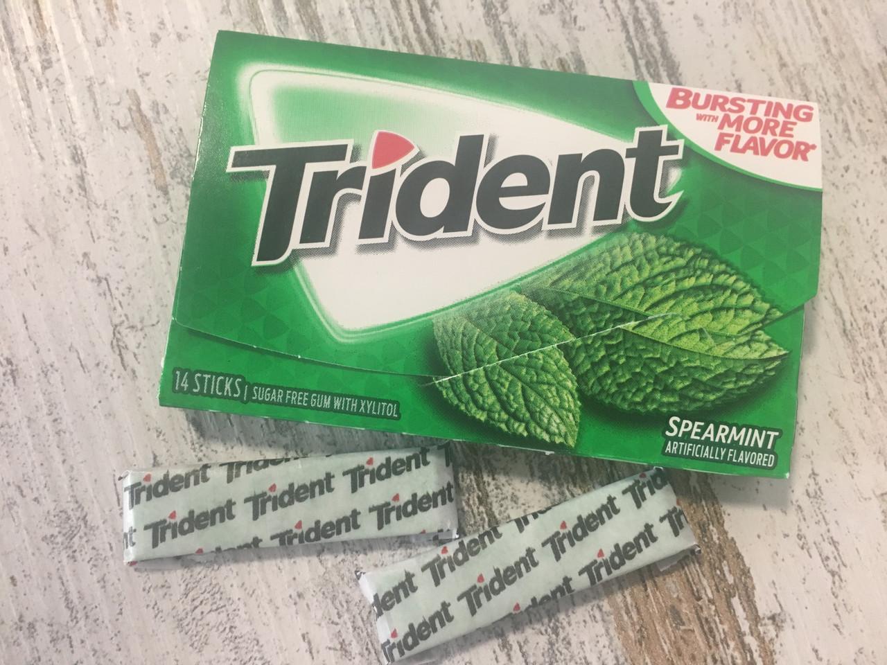 Жвачка Trident Spearmint Классическая мята