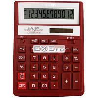 Калькулятор Citizen SDC-888XRD, настольный, 12-разрядный, литиевая + солнечная батарея