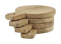 Доски для сервировки круглые деревянные Nicolas Vahe 4 шт.