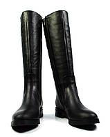Черные зимние женские кожаные сапоги ARI ANDANO на меху ( шерсть, европейка )