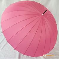 Зонт-трость 24 спицы (розовый)