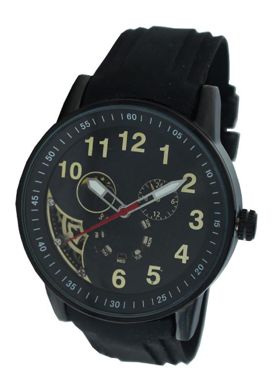 Часы мужские имитация механических с лунным календарем.